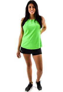 Regata Rich Young Fitness Verde Shorts Saia Fitness Preto