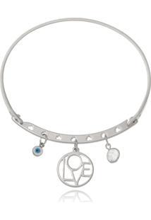 Bracelete Le Diamond Patuã¡ Amor Prata - Prata - Feminino - Dafiti