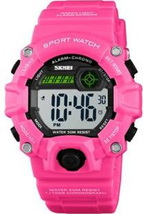 Relógio Infantil Skmei Digital Feminino - Feminino-Rosa+Preto