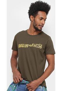 Camiseta Colcci Party Masculina - Masculino-Verde Escuro
