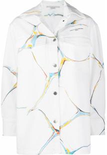 Stella Mccartney Jaqueta Jeans Com Estampa Gráfica - Branco