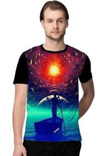 Camiseta Stompy Psicodelica8 Masculina - Masculino-Preto