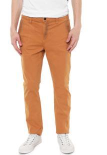 Calça Sarja Calvin Klein Jeans Chino Color Caramelo
