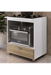 Armário De Cozinha Para Forno E Cooktop 5 Bocas 1 Gaveta Bl151 Branco/Oak - Completa Móveis
