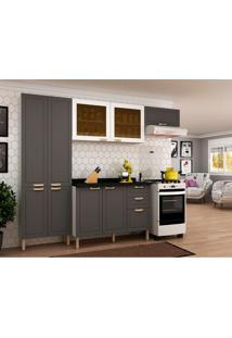 Cozinha Compacta Nevada V 9 Pt 3 Gv Branca E Grafite