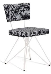 Cadeira Butterfly Retrô C01-Daf Mobiliário - Preto / Branco