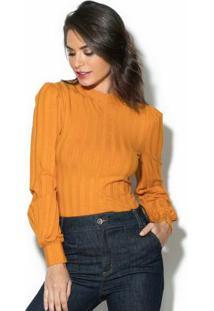 Blusa Canelada Amarela