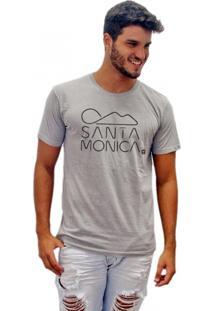 Camiseta Joss Estonada Santa Monica Cinza
