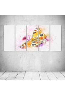 Quadro Decorativo - Butterfly151 - Composto De 5 Quadros - Multicolorido - Dafiti