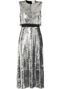 Stella Mccartney Vestido Com Sobreposição E Paetês - Metálico