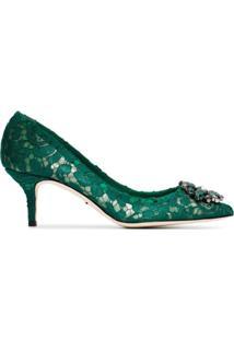 Dolce & Gabbana Scarpin 'Bellucci' De Couro - Verde