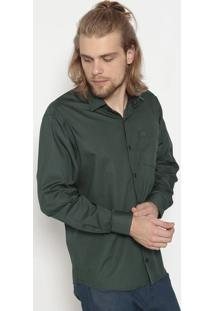 Camisa Tradicional Com Bolso- Verdeogochi