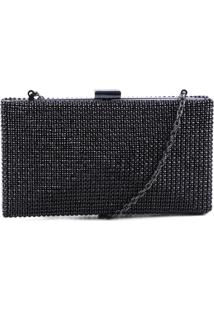 Clutch Strass Cristal Black | Schutz