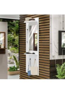 Painel Decorativo Com Espelho Style Branco - Estilare Móveis