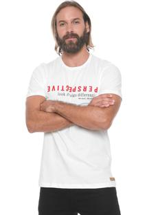 Camiseta Colcci Perspective Off-White