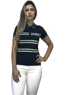 Camisa Hifen Pólo Listrada Marinho