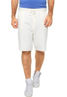 Bermuda Calvin Klein Jeans Reto Bolsos Off-White