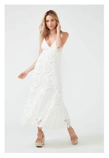 Vestido Guipure Midi Off White
