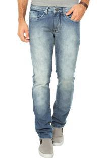 Calça Jeans Calvin Klein Jeans Reta Básica Azul