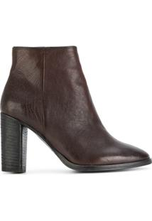 N.D.C. Made By Hand Ankle Boot Com Zíper - Marrom
