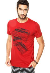 Camiseta Fiveblu Mixtape Vermelha