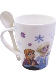 Caneca Minas De Presentes Frozen Branca