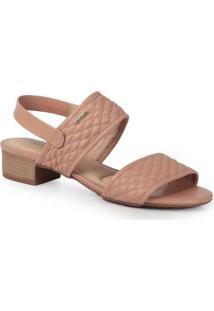 Sandália Salto Feminina Conforto Modare Textura Nu