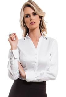 4ef963d93 Loja Principessa. Camisa Feminina Branca Principessa Allana