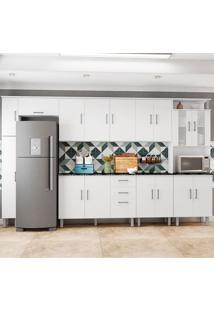 Cozinha Compacta Com Tampo 7 Peças Suíça - Poliman - Branco