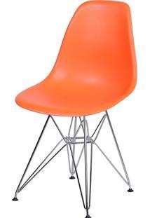 Cadeira Eames Dkr Or-1102 C/ Pés Cromados - Laranja