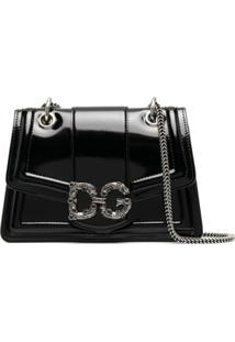 Dolce & Gabbana Small Dg Amore Shoulder Bag - Preto
