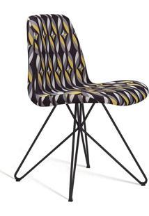 Cadeira De Jantar Eames Butterfly Preto E Amarelo