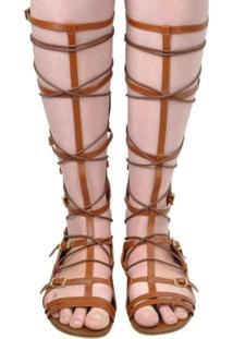 Sandália Gladiadora Jorge Bischoff J20092009A01 - Feminino-Marrom