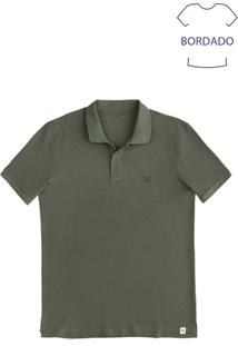 Camisa Polo Masculina Básica Com Bordado