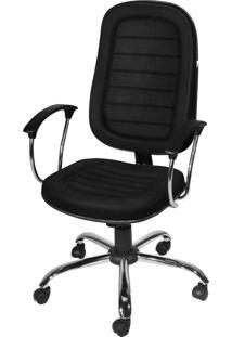 Cadeira Presiente Gitatória Cromada C/ B
