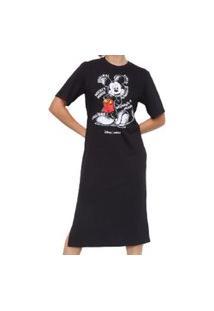 Vestido Midi Preto Disney Colcci 044.57.00206