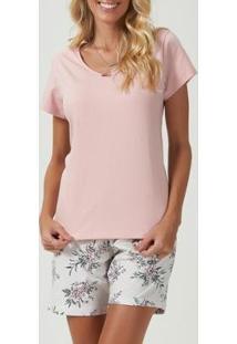 Pijama Espaço Pijama 40721 Feminino - Feminino-Rosa