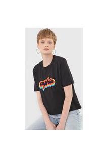 Camiseta Cantão Box Rainbow Preta