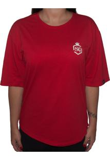 Camiseta Swagger Sg Vermelha - Vermelho - Feminino - Algodã£O - Dafiti