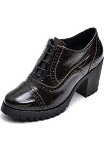 Oxford Top Franca Shoes Feminino - Feminino-Cafe