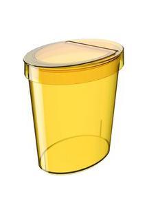 Lixeira Coza Oval Glass 5 L Amarela