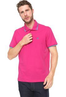 Camisa Polo John John Reta 2 Lines Rosa