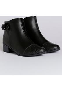 Bota Ankle Boot Feminina Comfortflex Preto