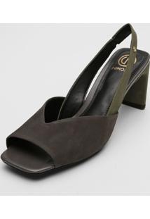 Sandália Dumond Assimétrica Verde