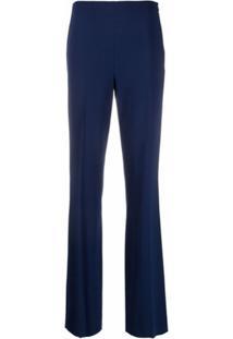 Ralph Lauren Collection Calça Reta Cintura Média - Azul