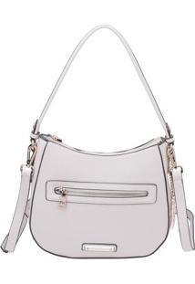 Bolsa Transversal Com Bag Charm- Off White- 24X27X9Cfellipe Krein