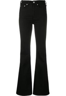 Rag & Bone Calça Jeans Cintura Alta - Preto