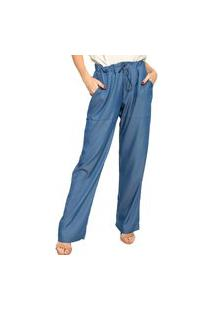 Calça Plano Denim Energia Fashion Azul