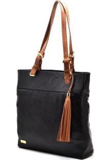 Bolsa Couro Hendy Bag Com Alça - Feminino