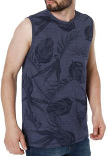 Camiseta Regata Masculina Rovitex Azul Marinho